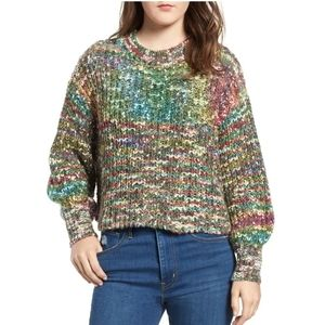 Nordstrom CODEXMODE Space Dyed Crop Sweater small